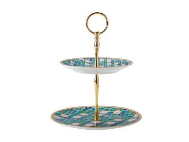 Teas & C's Kasbah 2 Tiered Cake Stand Mint Gift Boxed