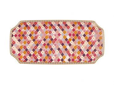 Teas & C's Kasbah Rectangle Platter 25x11.5cm Rose Gift Boxed