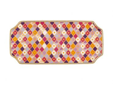 Teas & C's Kasbah Rectangle Platter 33x15.5cm Rose Gift Boxed