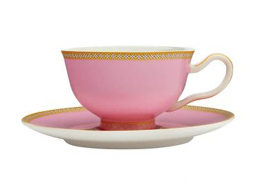 Teas & C's Kasbah Classic Footed Cup & Saucer 200ML Hot Pink Gift Boxed