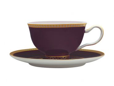 Teas & C's Classic Footed Cup & Saucer 200ML Violet Gift Boxed