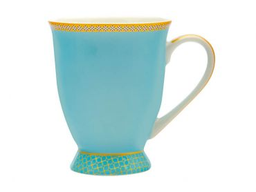 Teas & C's Kasbah Classic Footed Mug 300ML Turquoise Gift Boxed