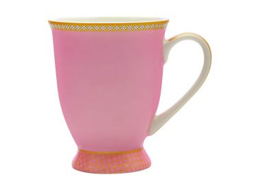 Teas & C's Kasbah Classic Footed Mug 300ML Hot Pink Gift Boxed