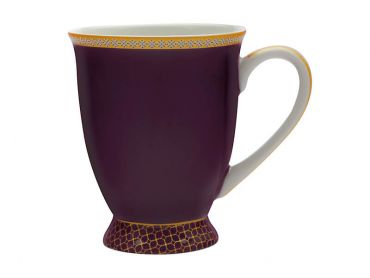 Teas & C's Kasbah Classic Footed Mug 300ML Violet Gift Boxed