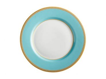 Teas & C's Classic Rim Plate 19.5cm Turquoise Gift Boxed