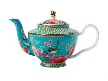 Teas & C's Silk Road Teapot with Infuser 500ML Aqua Gift Boxed