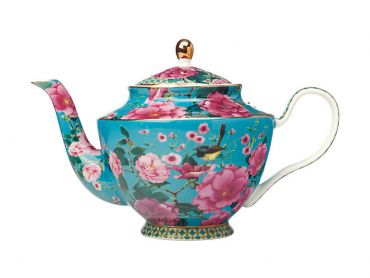 Teas & C's Silk Road Teapot with Infuser 1L Aqua Gift Boxed