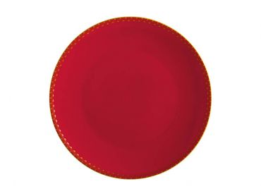 Teas & C's Classic Coupe Plate 19.5cm Cherry Red Gift Boxed
