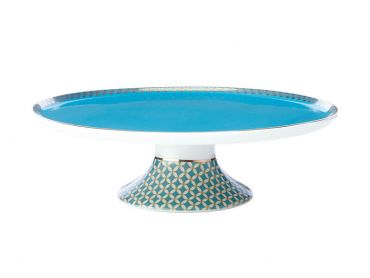 Teas & C's Classic Footed Cake Stand 19.5cm Aqua Gift Boxed
