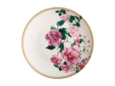 Teas & C's Silk Road Coupe Plate 19.5cm White Gift Boxed