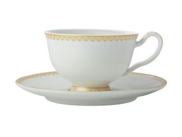 Teas & C's Classic Footed Cup & Saucer 200ML White Gift Boxed