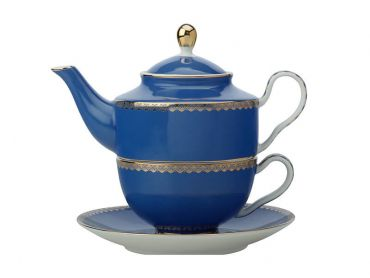 Teas & C's Classic Tea for One with Infuser 380ML Blue Gift Boxed