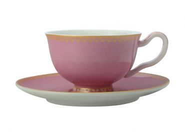 Teas & C's Classic Footed Cup & Saucer 200ML Hot Pink Gift Boxed