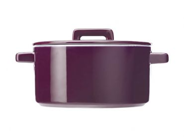Epicurious Round Casserole 2.6L Aubergine Gift Boxed
