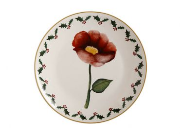 Poinsettia Plate 20cm Poppy Gift Boxed
