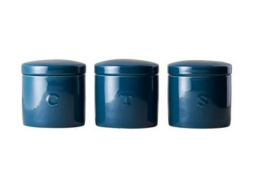 Epicurious Canister 600ML Set of 3 Teal Gift Boxed