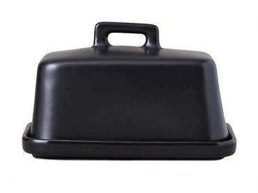 Epicurious Butter Dish Black Gift Boxed