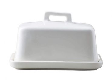 Epicurious Butter Dish White Gift Boxed