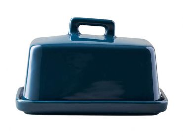 Epicurious Butter Dish Teal Gift Boxed