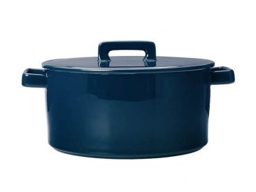 Epicurious Round Casserole 2.6L Teal Gift Boxed