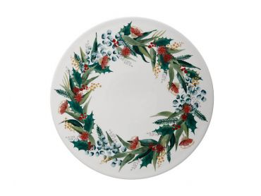 Holly Berry Pavlova/Cheese Plate 29cm Gift Boxed