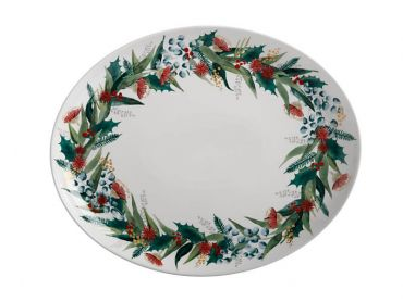 Holly Berry Oval Platter 38x30.5cm Gift Boxed