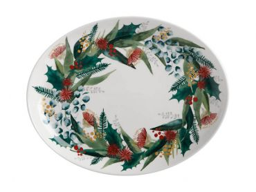 Holly Berry Oval Platter 25x19cm Gift Boxed