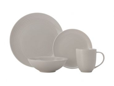 Swirl Dinner Set 16pc Grey