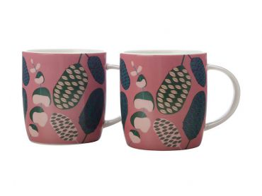 Sassafras Mugs 370ML Set of 2 Pink Gift Boxed