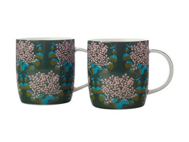 Sassafras Mugs 370ML Set of 2 Green Gift Boxed