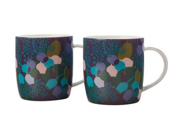 Sassafras Mugs 370ML Set of 2 Purple Gift Boxed