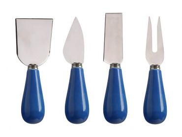 Mezze Cheese Knife Set of 4 Blue