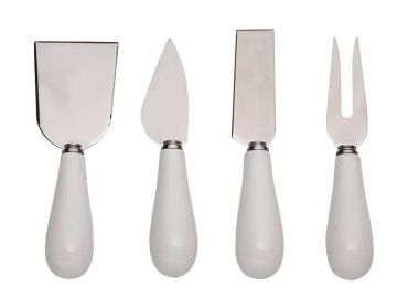 Mezze Cheese Knife Set of 4 White
