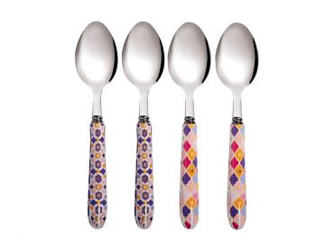 Teas & C's Kasbah Teaspoon Set of 4 Rose Gift Boxed