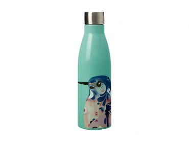 Pete Cromer Double Wall Insulated Bottle 500ML Azure Kingfisher