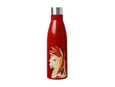 Pete Cromer Wildlife Double Wall Insulated Bottle 500ML Lion