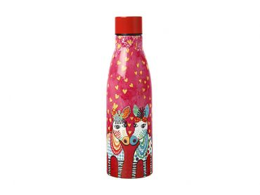 Love Hearts Double Wall Insulated Bottle 500ML Zig Zag Zebras