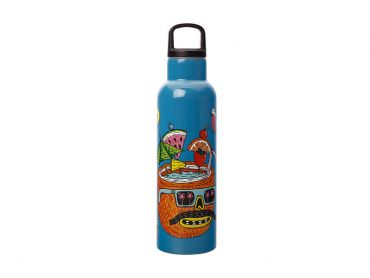 Mulga the Artist Double Wall Insulated Bottle 600ML Coconut