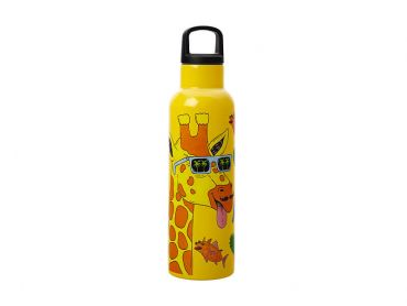 Mulga the Artist Double Wall Insulated Bottle 600ML Giraffe