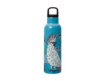 Mulga the Artist Double Wall Insulated Bottle 600ML Cockatoo