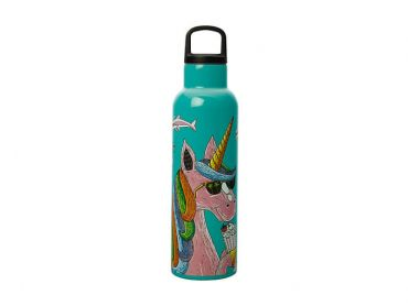 Mulga the Artist Double Wall Insulated Bottle 600ML Unicorn