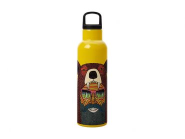 Mulga the Artist Double Wall Insulated Bottle 600ML Bear Man