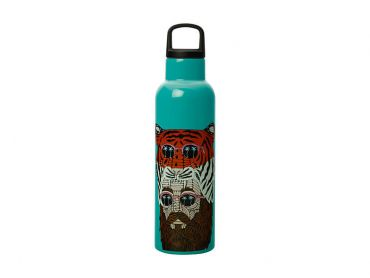 Mulga the Artist Double Wall Insulated Bottle 600ML Tiger Man