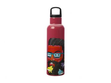 Mulga the Artist Double Wall Insulated Bottle 600ML Dolphin Man