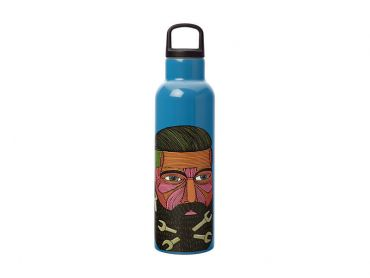 Mulga the Artist Double Wall Insulated Bottle 600ML Spanner Man