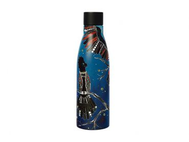Melanie Hava Jugaig-Bana-Wabu Double Wall Insulated Bottle 500ML Black Cockatoos