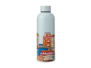 Megan McKean Cities Double Wall Insulated Bottle 500ML Amsterdam