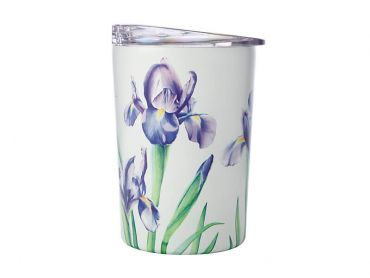 Katherine Castle Floriade Double Wall Insulated Cup 360ML Irises