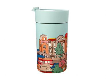 Megan McKean Cities Double Wall Insulated Cup 350ML Amsterdam
