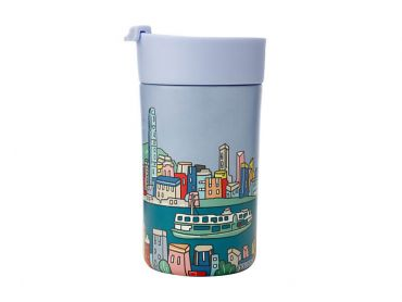 Megan McKean Cities Double Wall Insulated Cup 350ML Hong Kong